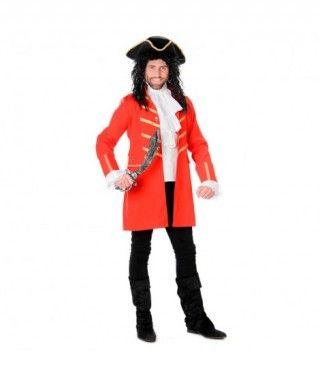 Disfraz Pirata rojo hombre adulto para Carnaval