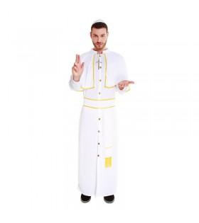 Disfraz Papa Hombre Túnica Blanca Carnaval