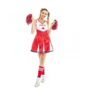 Disfraz Animadora Cheerleader Mujer Carnaval