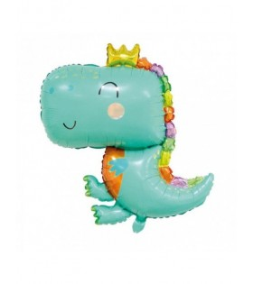 Globo Dinosaurio Smile 90 x 69 cm Decoración Cumpleaños Mylar