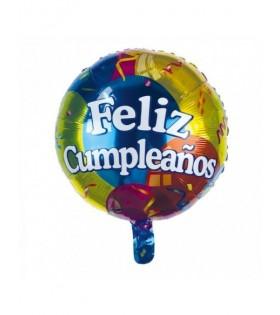 Globo Feliz Cumpleaños Multicolor Mylar