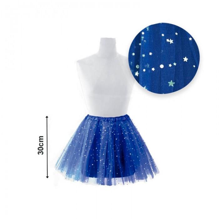 Tutú infantil estrellas 30 cm azul...