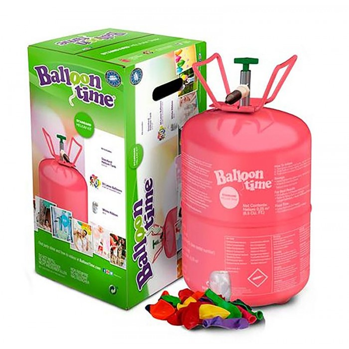 Bombona de helio para globos 0,25 m3...
