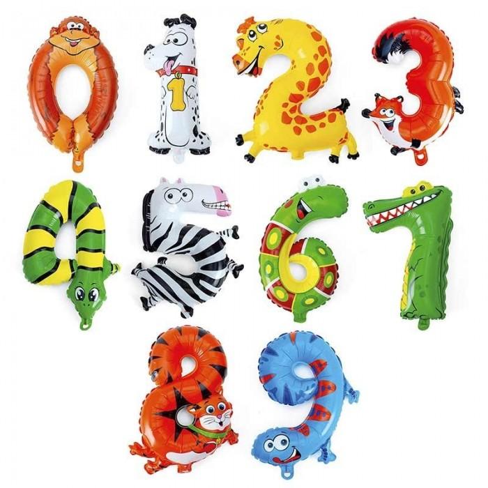 Globos Números con Forma Animales Originales Divertidos (40 cm) Decoración Cumpleaños Temáticos