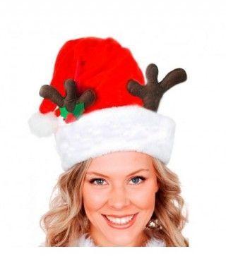 Gorro Navidad Papá Noel Cuernos Reno