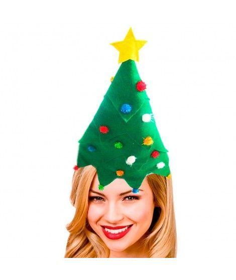 Gorro Navidad árbol fieltro