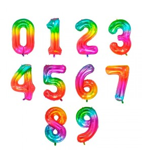 Globos Números Color Arco...