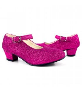 Zapatos de Princesa Fucsia con Purpurina