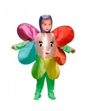 Disfraz Flor multicolor infantil para Carnaval