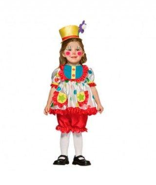 Disfraz Payasita niña infantil para Carnaval