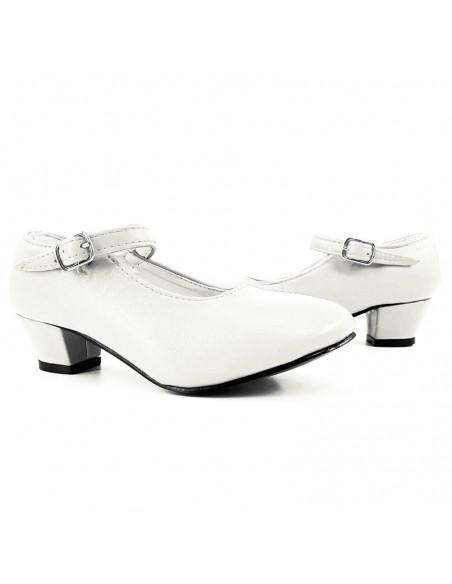 Zapatos de Sevillana infantil blancos