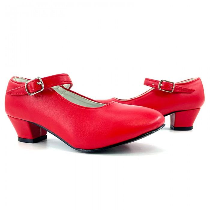 Zapatos de Sevillana infantil rojos