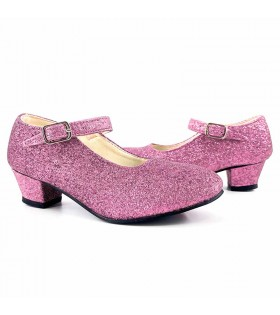 Zapatos adulto rosas con purpurina