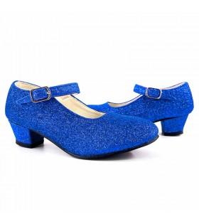 Zapatos adulto azules con purpurina