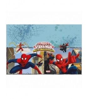 Mantel Cumpleaños Spiderman [120 x 180 cm] Decoración Fiesta Superhéroes Hombre Araña Ultimate Spiderman Web Warriors