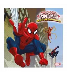 Servilletas Cumpleaños Spiderman Papel 2 capas [20 uds] Decoración Fiesta Superhéroes Hombre Araña Ultimate