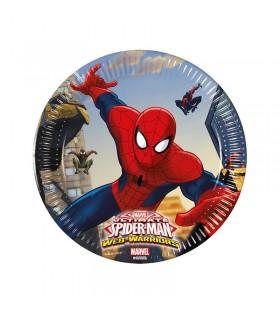 Platos Cumpleaños Spiderman Papel [6 uds] Decoración Fiesta Spiderman Superhéroes Hombre Araña Ultimate