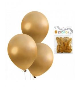 Globos Dorados Perla Látex [ 10 pcs] 15 cm Decoración Fiestas Cumpleaños Celebraciones