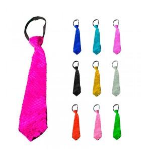 Corbata con Lentejuelas de Colores Accesorio Disfraz