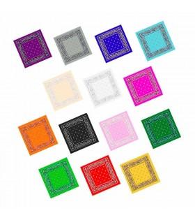Pañuelo Bandana Vaquero Rapero Paisley Colores [Disfraces Peñas Eventos]