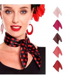 Pañuelo Sevillana Lunares Flamenca de Colores Accesorio Disfraz