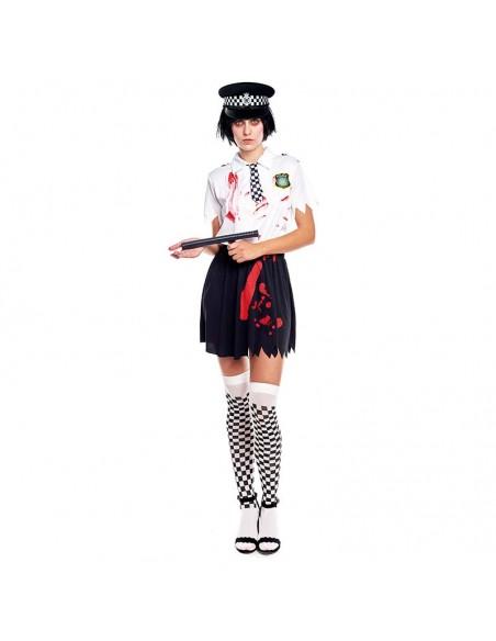 Disfraz Zombie Policía Mujer