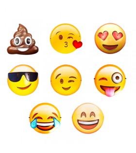 Máscara Emotis [Pack 12 unidades variadas] Caretas Fiestas