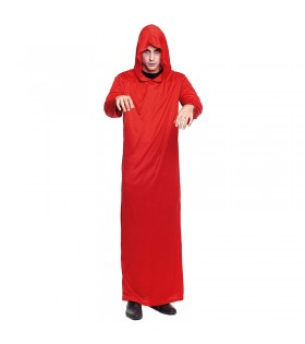Túnica Roja con Capucha Adulto