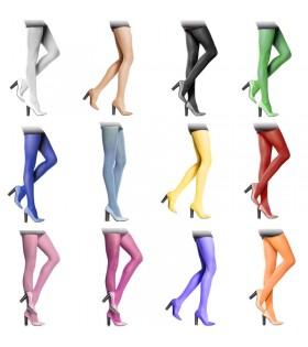 Pantys de Colores Mujer Lisos para Disfraz