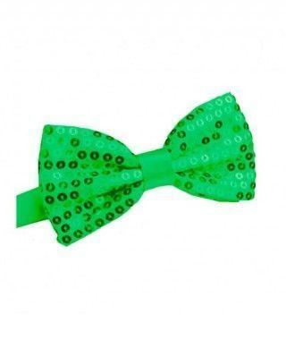 Pajarita lentejuelas Verde...