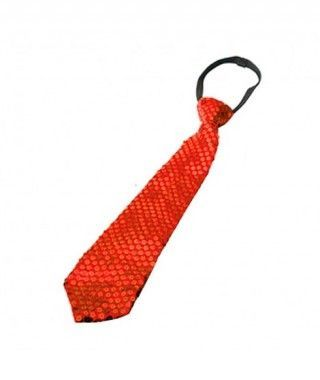 Corbata lentejuelas Rojo Accesorio Fiesta