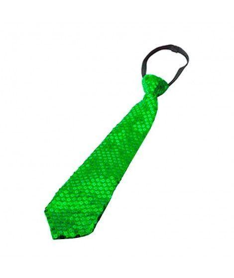 Corbata lentejuelas Verde Accesorio...