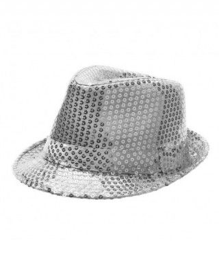 Sombrero lentejuelas plata con ala