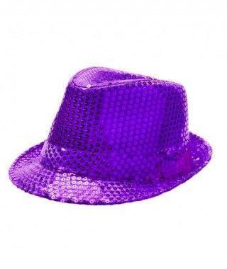 Sombrero lentejuelas morado...