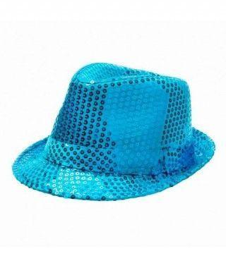 Sombrero lentejuelas azul...