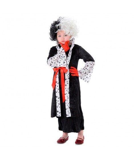 Disfraz Madame Evil niña infantil para Carnaval
