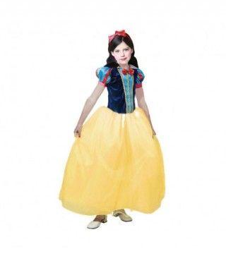 Disfraz de Princesa Blancanieves niña infantil para Carnaval