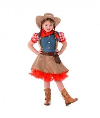 Disfraz Vaquera Rodeo niña infantil para Carnaval