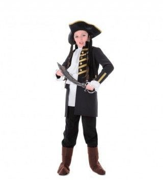 Disfraz Pirata Negro niño infantil para Carnaval