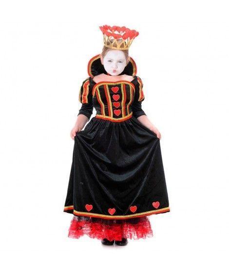 Disfraz Reina de Corazones Deluxe niña infantil para Carnaval