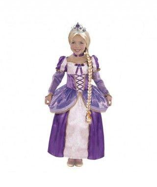 Disfraz Princesa Rapunzel Trenza niña infantil para Carnaval