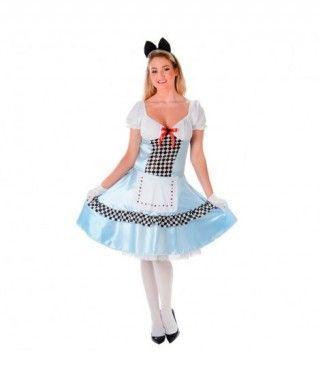 Disfraz Alicia mujer adulto para Carnaval
