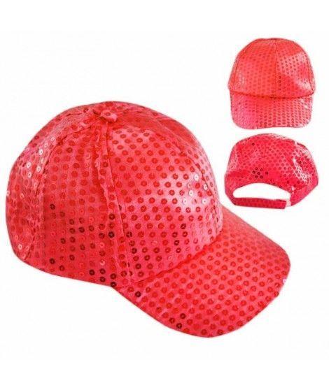 Gorra lentejuelas rojo Fiesta
