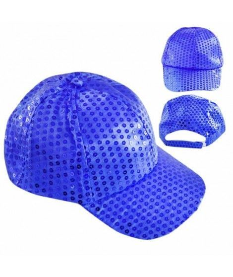 Gorra lentejuelas azul cobalto Fiesta