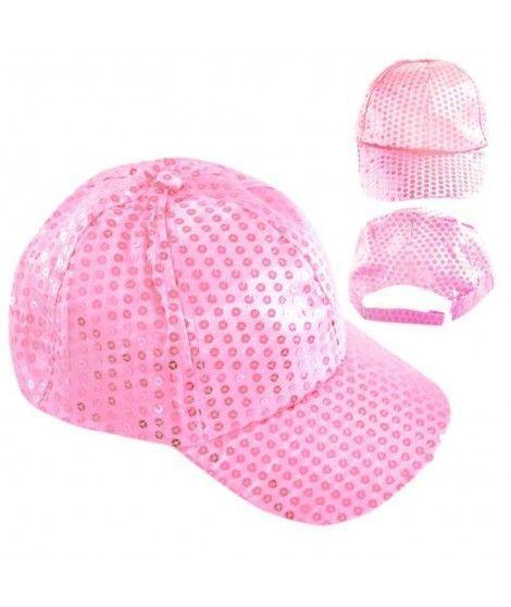 Gorra lentejuelas rosa Fiesta
