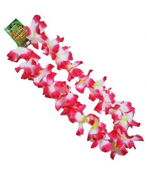 Collar Hawaiano Flores medianas Fucsias