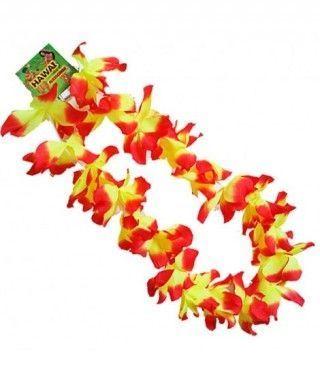 Collar Hawaiano Flores medianas Rojas