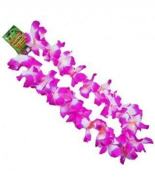 Collar Hawaiano Flores medianas Moradas