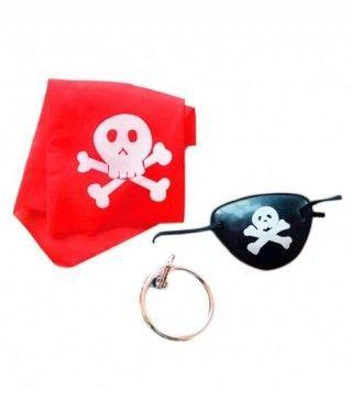 Conjunto Parche + Pendiente + Pañuelo de Pirata