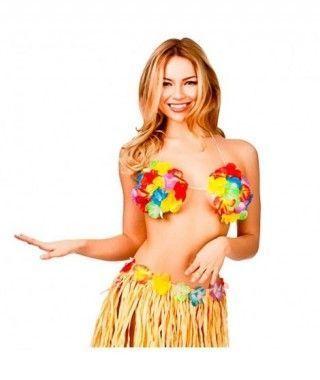 Top Sujetador Hawaiano Flores